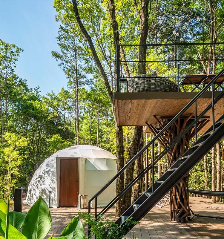 新感覚の贅沢キャンプ